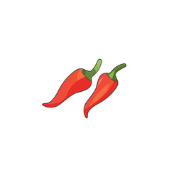 color chilli icon on a white vector image