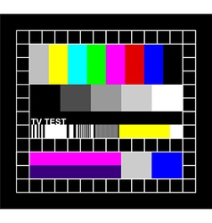Colored TV signal graphic vector