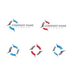 compass logo template icon vector image vector image