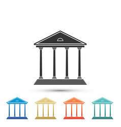 Courthouse building icon building bank or museum vector