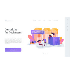 Coworking landing page concept vector