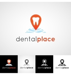 Creative dental logo design Teethcare icon set vector image