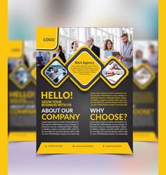 creative professional business flyer design vector image
