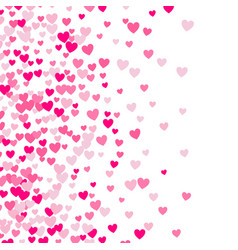 Cute little hearts background different size and vector
