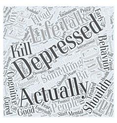 depression Word Cloud Concept vector image