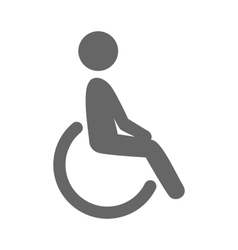 Disability man pictograph flat icon isolated vector