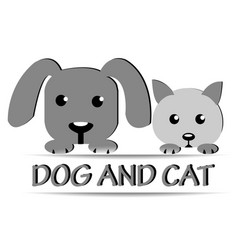 Dog and cat face logo vector