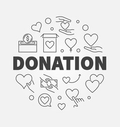 donation round modern outline vector image