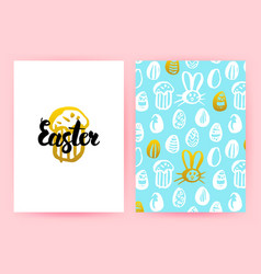 easter 80s style posters vector image vector image