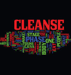 Ejuva cleanse four stages text background word vector
