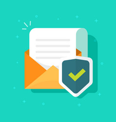 Email or mail protected and shield icon vector