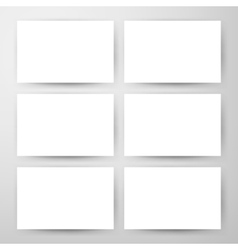 Empty Horizontal Cards Mockup vector image