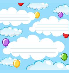 empty note sky theme vector image