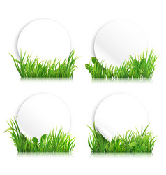 green realistic grass banners vector image