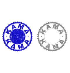 Grunge kama textured watermarks vector