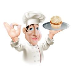 Happy baker vector