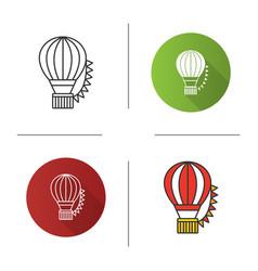 hot air balloon festival icon vector image