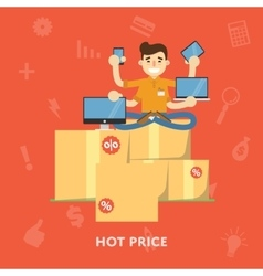 Hot price flat abstract isolated vector