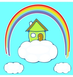 House on a cloud vector