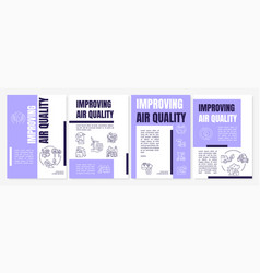Improving air quality brochure template vector