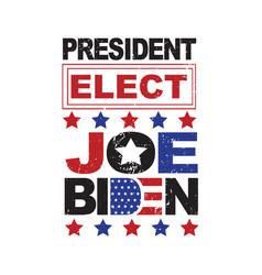 Joe biden president elect united states of vector