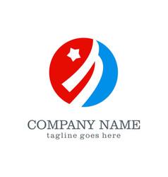 loop star logo design vector image
