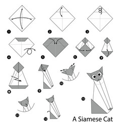 make origami a siamese cat vector image