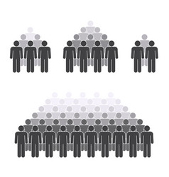 man crowd figures on white background for graphic vector image