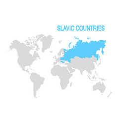 Map slavic countries vector