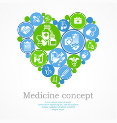 medical heart concept vector image