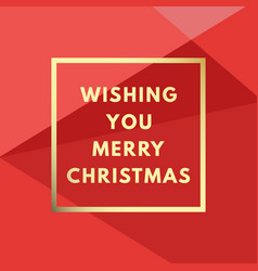 merry christmas creative minimal winter greeting vector image