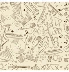Music seamless retro vector