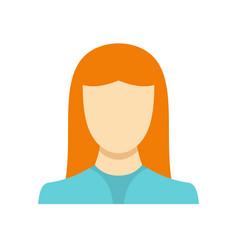 New woman avatar icon flat vector