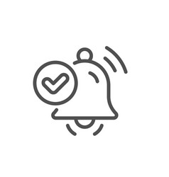 Notification received line icon selected reminder vector