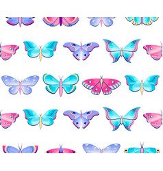 Pattern with butterflies and moths vector
