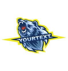Polar bear sport mascot logo vector