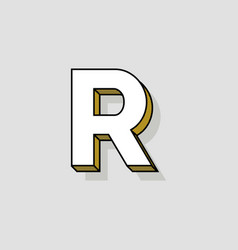 pop art logo letter r vector image