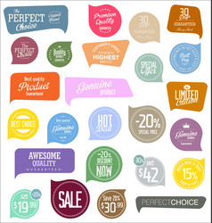 premium quality modern labels collection 2 vector image