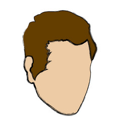 profile man male avatar face vector image
