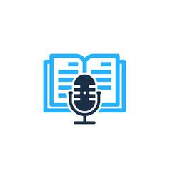 Read podcast logo icon design vector