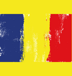 romania colorful brush strokes painted flag vector image