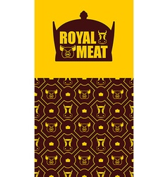 Royal meat Excellent tasty beef and pork Logo for vector image