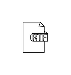 rtf document format icon vector image