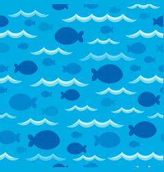 Seamless background fish shadows 1 vector