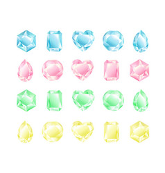 set crystals different vector image
