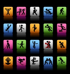 Set of 20 sport icons vector image
