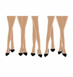 Sexy legs background vector
