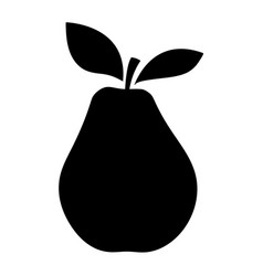 silhouettes of an pear vector image vector image