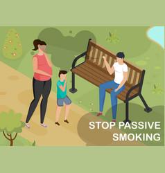 smoking isometric vector image