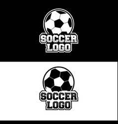 Soccer logo design for team or gamer vector